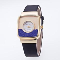 お買い得  レディース腕時計-女性用 リストウォッチ フロートクリスタル腕時計 クォーツ ホット販売 / PU バンド ハンズ カジュアル ファッション ブラック / 白 / ブルー - ピンク ライトブルー カーキ色