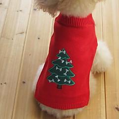 Koty Psy Swetry Ubrania dla psów Zima Wiosna/jesień Płatek śniegu Zatrzymujący ciepło Święta Bożego Narodzenia SylwesterBlack Yellow