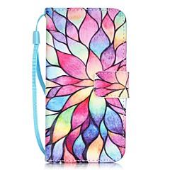 Недорогие Кейсы для iPhone X-Кейс для Назначение Apple iPhone X / iPhone 8 / iPhone 7 Бумажник для карт / С узором Чехол Цветы Твердый Кожа PU для iPhone X / iPhone 8 Pluss / iPhone 8