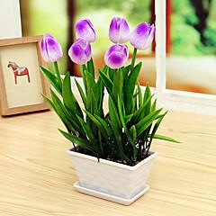 Set of 1 PCS 1 Rama PU Tulipán Flor de Mesa Flores Artificiales 13.3