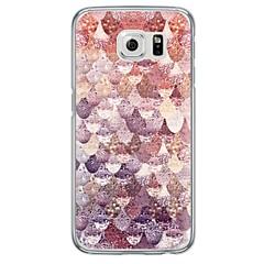 Voor Samsung Galaxy S7 Edge Ultradun / Doorzichtig hoesje Achterkantje hoesje Geometrisch patroon Zacht TPU SamsungS7 edge / S7 / S6 edge