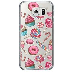 tanie Galaxy S6 Edge Etui / Pokrowce-Kılıf Na Samsung Galaxy Samsung Galaxy S7 Edge Ultra cienkie Półprzezroczyste Czarne etui Dachówka Miękkie TPU na S7 edge S7 S6 edge plus