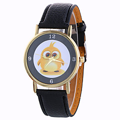 preiswerte Damenuhren-Damen Armbanduhr Quartz 30 m Schlussverkauf / PU Band Analog Modisch Kleideruhr Schwarz / Weiß / Blau - Braun Rot Blau Ein Jahr Batterielebensdauer / SODA AG4