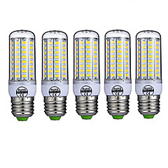 cheap LED Bulbs-5pcs E27 LED Corn Lights 72leds SMD5730 980lm Warm/Cold White Decorative AC220-240V