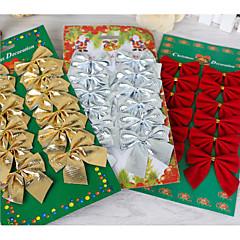 12pcs τόξο Χριστουγεννιάτικα στολίδια πεταλούδα κόμπος διακοσμήσεις διακοπών
