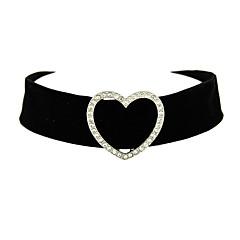 お買い得  ネックレス-女性用 チョーカー / タトゥーチョーカー  -  ハート タトゥデザイン ブラック ネックレス ジュエリー 用途 ありがとうございました, 日常, バレンタイン