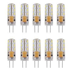 preiswerte LED-Birnen-10 Stück 1W 460lm G4 LED Doppel-Pin Leuchten Röhre 24 LED-Perlen SMD 3014 Dekorativ Warmes Weiß Kühles Weiß 12V