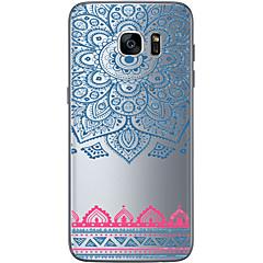 olcso Galaxy S6 tokok-Mert Samsung Galaxy S7 Edge Átlátszó / Other Case Hátlap Case Mértani formák Puha TPU Samsung S7 edge / S7 / S6 edge plus / S6 edge / S6
