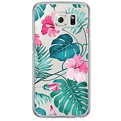 billige Galaxy S6 Edge Etuier-Etui Til Samsung Galaxy Samsung Galaxy S7 Edge Ultratyndt Gennemsigtig Bagcover Blomst Blødt TPU for S7 edge S7 S6 edge plus S6 edge S6
