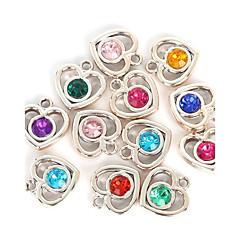 abordables Pendientes y cadenas-Encantos / Colgantes - Diamante Sintético Corazón, Amor Colgante Color Aleatorio Para Enamorado