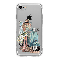 Mert iPhone 7 tok / iPhone 7 Plus tok / iPhone 6 tok Minta Case Hátlap Case Szexi lány Puha TPU AppleiPhone 7 Plus / iPhone 7 / iPhone 6s