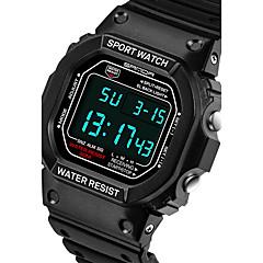 preiswerte Tolle Angebote auf Uhren-SANDA Herrn Sportuhr Smartwatch Armbanduhr Digital Japanischer Quartz 30 m Wasserdicht Chronograph LED Silikon Band Analog-Digital Freizeit Modisch Schwarz / Silber - Schwarz Rot Blau Zwei jahr