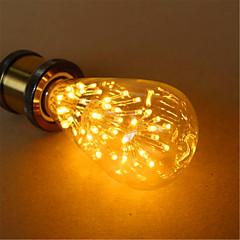 preiswerte LED-Birnen-1pc 3 W 200 lm E26 / E27 LED Kugelbirnen ST64 54 LED-Perlen Dip - Leuchtdiode Dekorativ Warmes Weiß 220-240 V / 1 Stück / RoHs