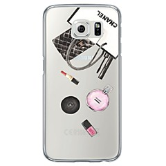 billige Galaxy S6 Etuier-Etui Til Samsung Galaxy Samsung Galaxy S7 Edge Ultratyndt Gennemsigtig Bagcover Flise Blødt TPU for S7 edge S7 S6 edge plus S6 edge S6 S5