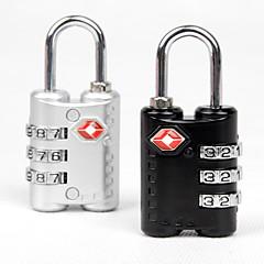 abordables Seguridad durante el Viaje-Viaje Candado para Maletas Accesorios de Equipaje Metal