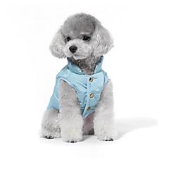 お買い得  犬用ウェア&アクセサリー-犬 スウェットシャツ ダウンジャケット 犬用ウェア 天使&悪魔 グリーン ブルー コットン コスチューム ペット用 男性用 女性用 カジュアル/普段着 ファッション