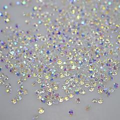 billige Krystal rhinsten-120pcs DIY tips negle glitter rhinestones ikke hot fix 3d søm kunst krystal nitter dekorationer klistermærker søm værktøjer SS10 ab serien