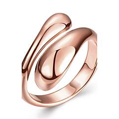preiswerte Ringe-Damen Geometrisch Ring - Roségold, Kupfer, versilbert 6 / 7 / 8 Silber / Rose / Golden Für Hochzeit Party Alltag / vergoldet / Rose Gold überzogen / vergoldet / Rose Gold überzogen
