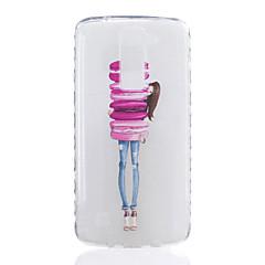 Voor lg k7 k8 kleine meisjespatroon tpu materiaal zeer transparante telefoon hoesje voor lg k7 k8 k10 g5