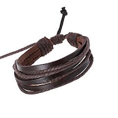 preiswerte Armbänder-Herrn Lederarmbänder - Leder Personalisiert, Einzigartiges Design, Modisch Armbänder Schwarz / Braun Für Alltagskleidung Alltag