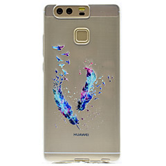 For Transparent Mønster Etui Bagcover Etui Fjer Blødt TPU for HuaweiHuawei P9 Huawei P9 Lite Huawei P9 Plus Huawei P8 Lite Huawei Honor 8