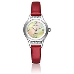 preiswerte Herrenuhren-Vilam Damen Armbanduhr Quartz 30 m Wasserdicht Imitation Diamant Leder Band Analog Glanz Modisch Weiß - Blau Rosa Dunkelrot