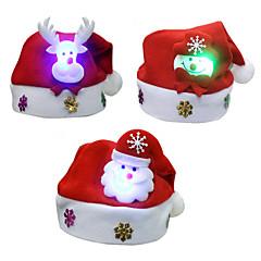 3PCS / 많은 크리스마스 선물 크리스마스 발광 모자 아이 모자 아이 단락 데칼 크리스마스 만화 아이 캡 모자
