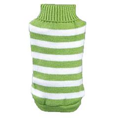 Χαμηλού Κόστους Ρούχα και αξεσουάρ για σκύλους-Γάτα Σκύλος Πουλόβερ Ρούχα για σκύλους Καθημερινά Ριγέ Πράσινο Μπλε Ροζ Στολές Για κατοικίδια