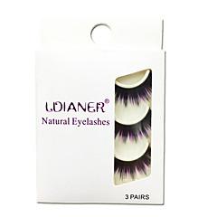 Cílios Cílios Tiras Completas de Cílios Olhos Grossa Colorido Confeccionada à Mão Fibra Banda Preta 0.07mm 14mm