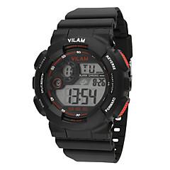 preiswerte Herrenuhren-Vilam Sportuhr Armbanduhr Digitaluhr Sender Wasserdicht, Kalender, LCD Schwarz / Gelb / Blau / Stopuhr