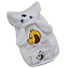 Hunde Kostume Hættetrøjer Hundetøj Vinter Forår/Vinter Dyremønster Sød Cosplay Hvid