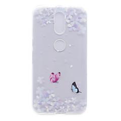 رخيصةأون Motorola أغطية / كفرات-غطاء من أجل موتورولا شفاف نموذج غطاء خلفي زهور ناعم TPU إلى Moto G4 Plus