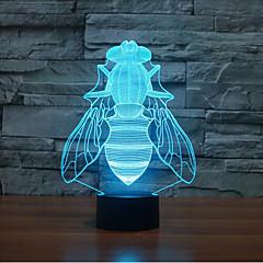 タッチ調光3Dを飛ぶ夜の光7colorful装飾雰囲気ランプノベルティ照明クリスマスライトを導きました