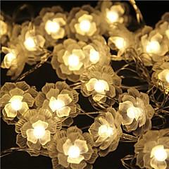 お買い得  LED ストリングライト-5m ストリングライト 40 LED Dip LED 温白色 リモートコントロール / 調光可能 / 防水 5 V / # / 接続可 / 変色 / IP44