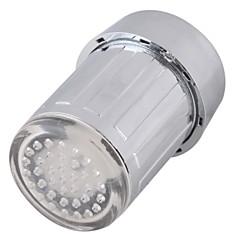abordables Grifos-grifo de agua led luz cambiante colorido resplandor cabeza de ducha grifo de cocina aireadores
