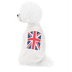honden Sweatshirt Wit Hondenkleding Winter / Zomer / Lente/Herfst Nationale Vlag Modieus / Casual/Dagelijks