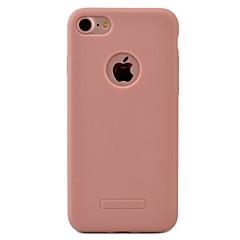 Недорогие Кейсы для iPhone 7-Кейс для Назначение iPhone 7 Plus IPhone 7 Apple iPhone 7 Plus iPhone 7 Защита от пыли Кейс на заднюю панель Сплошной цвет Мягкий ТПУ для
