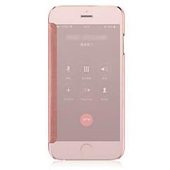 Недорогие Кейсы для iPhone 7 Plus-Кейс для Назначение iPhone 5 / Apple / iPhone X iPhone X / iPhone 8 / iPhone 8 Plus Покрытие / Зеркальная поверхность / Флип Чехол Однотонный Твердый Металл для iPhone X / iPhone 8 Pluss / iPhone 8