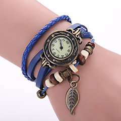 preiswerte Damenuhren-Damen Armband-Uhr Armbanduhren für den Alltag PU Band Blätter / Böhmische / Modisch Schwarz / Rot / Orange / Ein Jahr / Jinli 377