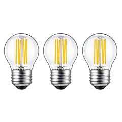 preiswerte LED-Birnen-3 Stück 5W 550lm E26 / E27 LED Glühlampen G45 6 LED-Perlen COB Warmes Weiß 220-240V