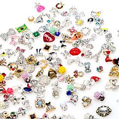 お買い得  クリスタルアート・ラインストーン-マニキュア合金の宝石の10個入り高品質ランダムミックス