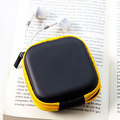 Travel Leather Material Headphones Change Purses(Random Color)