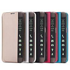 Samsung Galaxy S7 reuna S7 tapauksessa Smart Touch ikkunanäkymään PU nahka saranoitu S6 reuna plus s6 s5