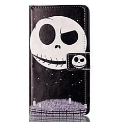 Для Бумажник для карт Кошелек со стендом Флип С узором Магнитный Кейс для Чехол Кейс для Череп Твердый Искусственная кожа для Sony Other