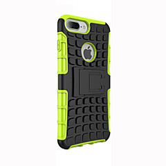 billige iPhone 5-etuier-Etui Til Apple iPhone 5 etui Stødsikker Med stativ Bagcover Rustning Blødt Silikone for iPhone 7 Plus iPhone 7 iPhone 6s Plus iPhone 6s