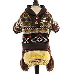 お買い得  犬用ウェア&アクセサリー-犬 セーター ジャンプスーツ 犬用ウェア 花/植物 ダークブルー グレー コーヒー コットン コスチューム ペット用 男性用 女性用 ホリデー 保温 ファッション