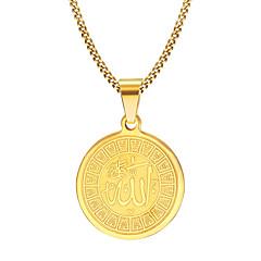 Недорогие Ожерелья-Муж. Ожерелья с подвесками - Нержавеющая сталь, Позолота Мода Золотой Ожерелье Бижутерия Назначение Новогодние подарки, Для вечеринок, Повседневные