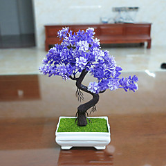 Set of 1 PCS 1 şube Polyester Bitkiler Masaüstü Çiçeği Yapay Çiçekler Long 9.4(inch)