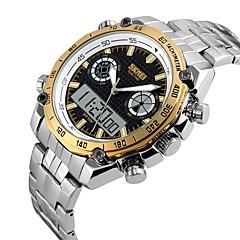 お買い得  大特価腕時計-SKMEI 男性用 リストウォッチ / スポーツウォッチ アラーム / カレンダー / 耐水 ステンレス バンド ぜいたく シルバー