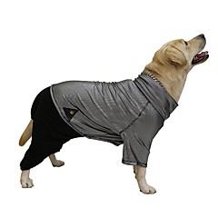 tanie Ubranka i akcesoria dla psów-Pies Płaszcze Kombinezon Ubrania dla psów Zatrzymujący ciepło Dwustronny Wielokolorowa Black Kostium Dla zwierząt domowych